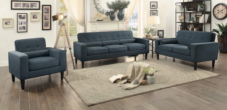 Homelegance Corso Sofa Set - Dark Gray