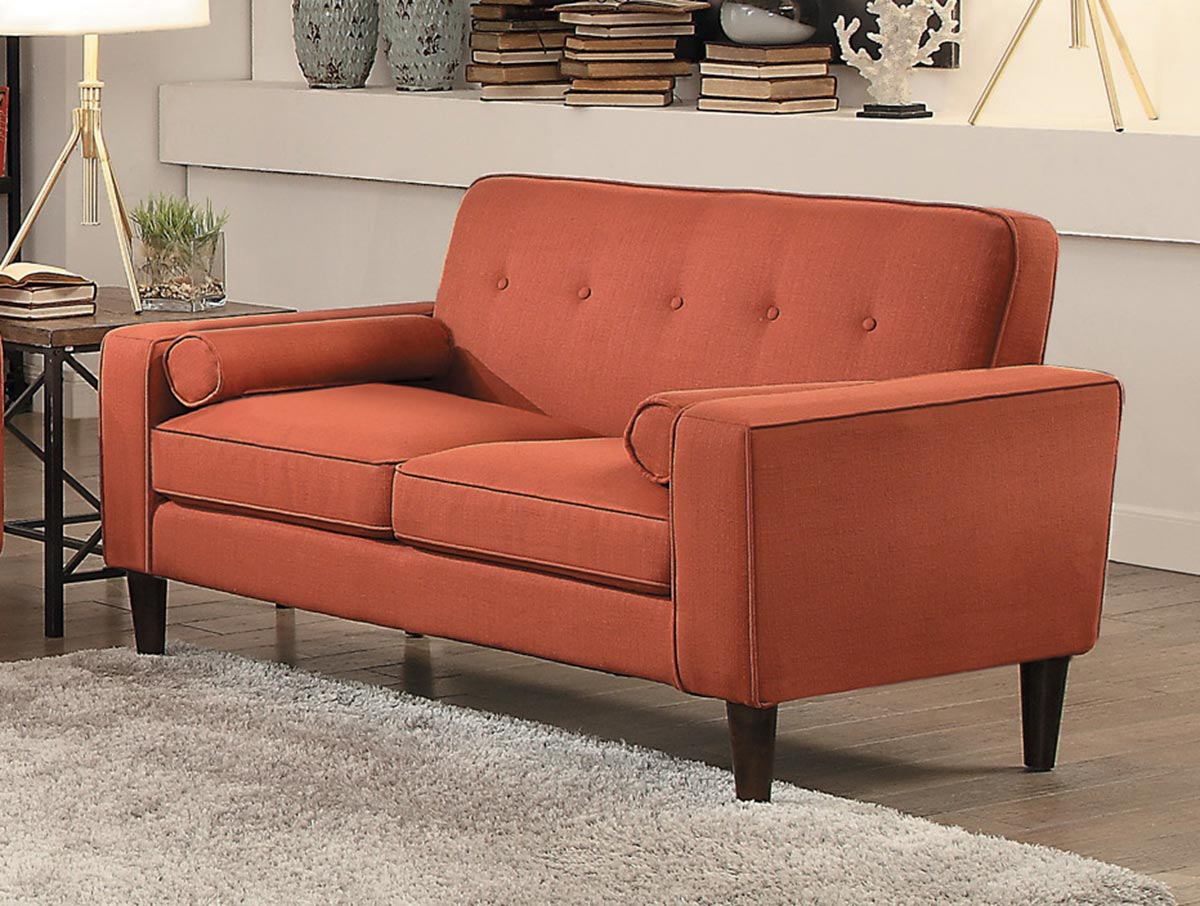Homelegance Corso Love Seat - Orange