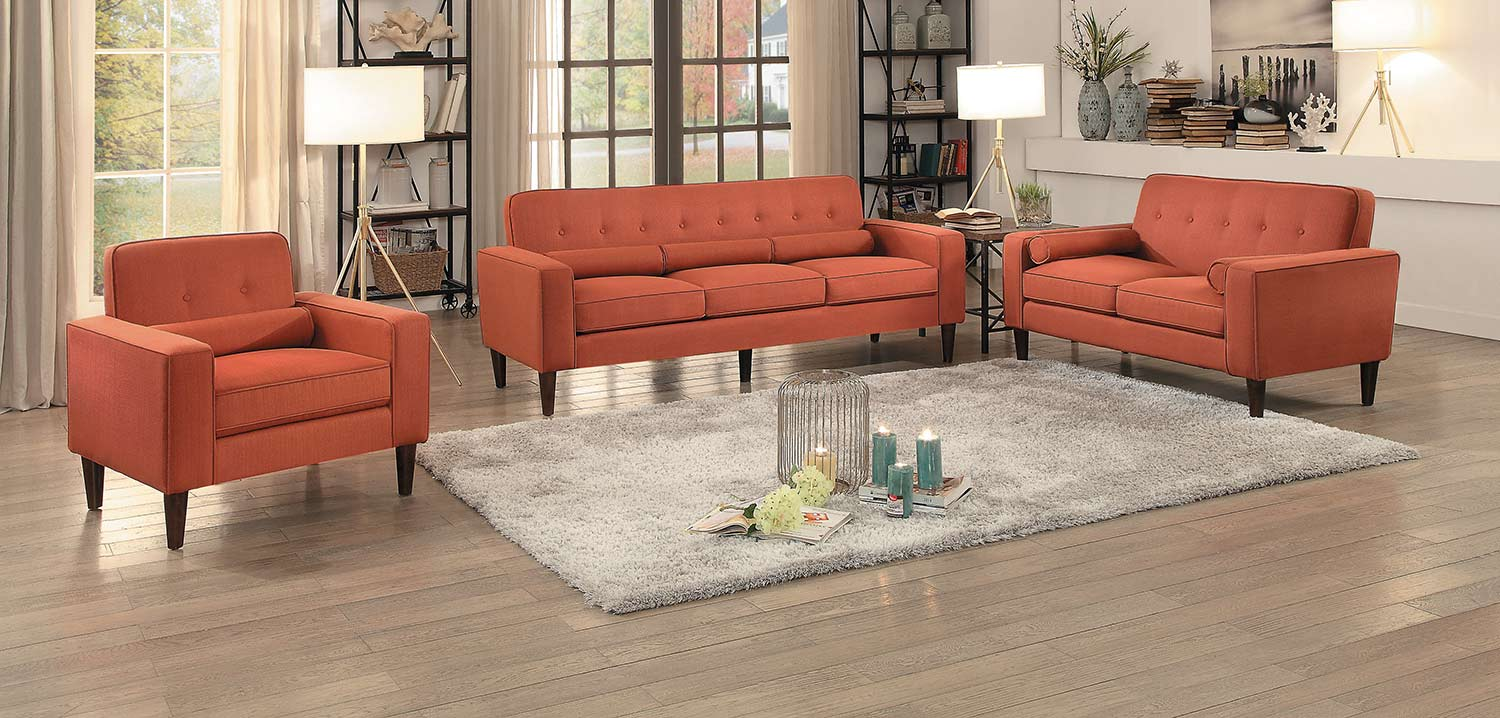 Homelegance Corso Sofa Set - Orange