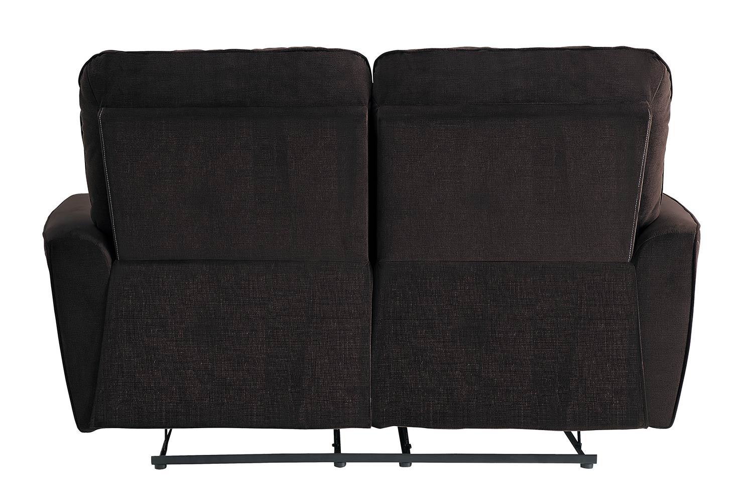 Homelegance Dowling Double Reclining Love Seat - Chocolate
