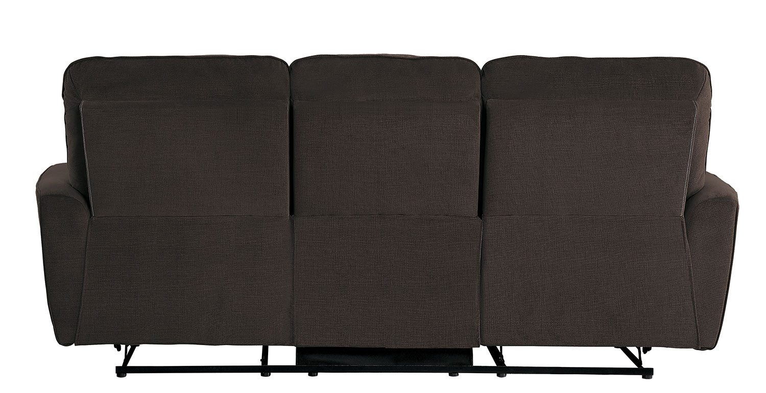 Homelegance Dowling Double Reclining Sofa - Chocolate