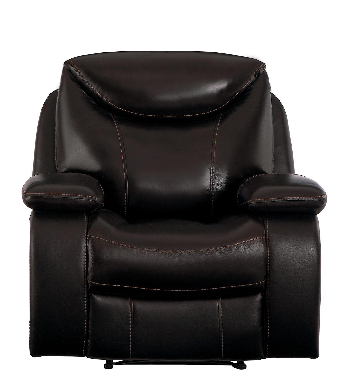 Homelegance Verkin Reclining Chair - Dark Brown
