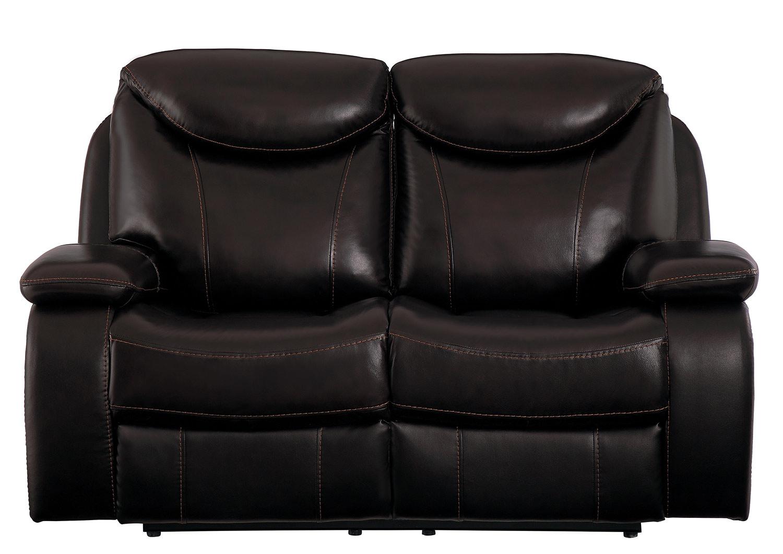 Homelegance Verkin Double Reclining Love Seat - Dark Brown