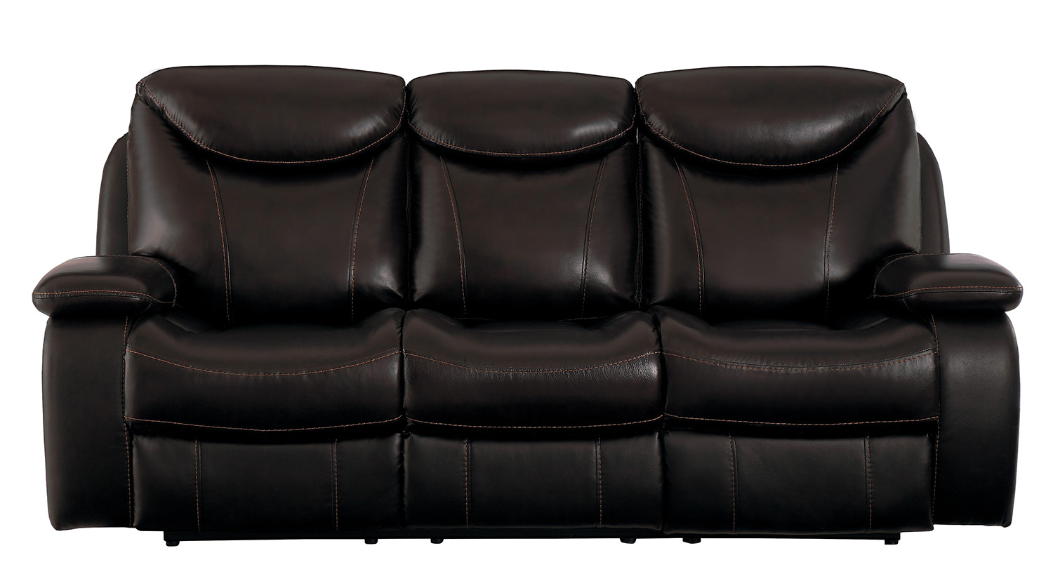 Homelegance Verkin Double Reclining Sofa - Dark Brown