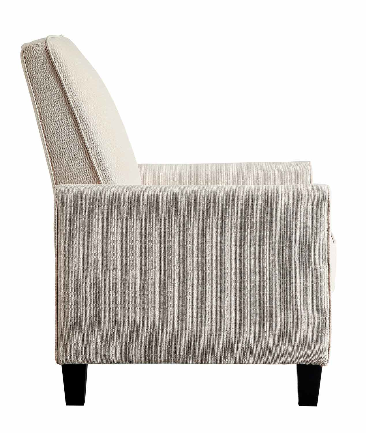 Homelegance Darcel Push Back Reclining Chair - Beige