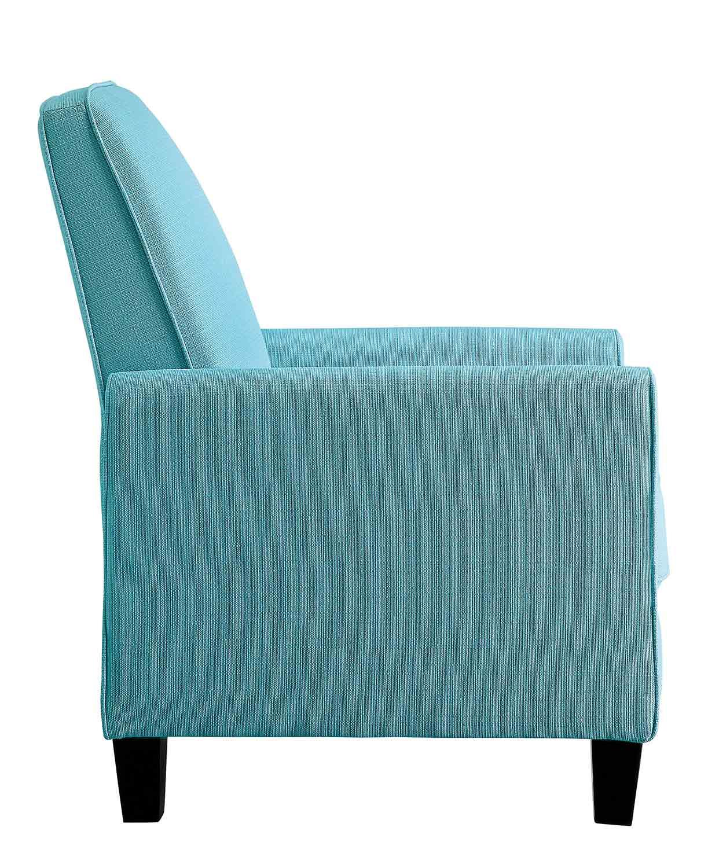 Homelegance Darcel Push Back Reclining Chair - Blue