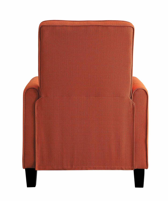 Homelegance Darcel Push Back Reclining Chair - Orange