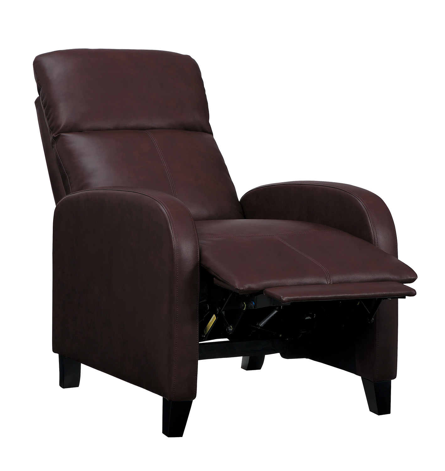 Homelegance Antrim Push Back Reclining Chair - Dark Brown