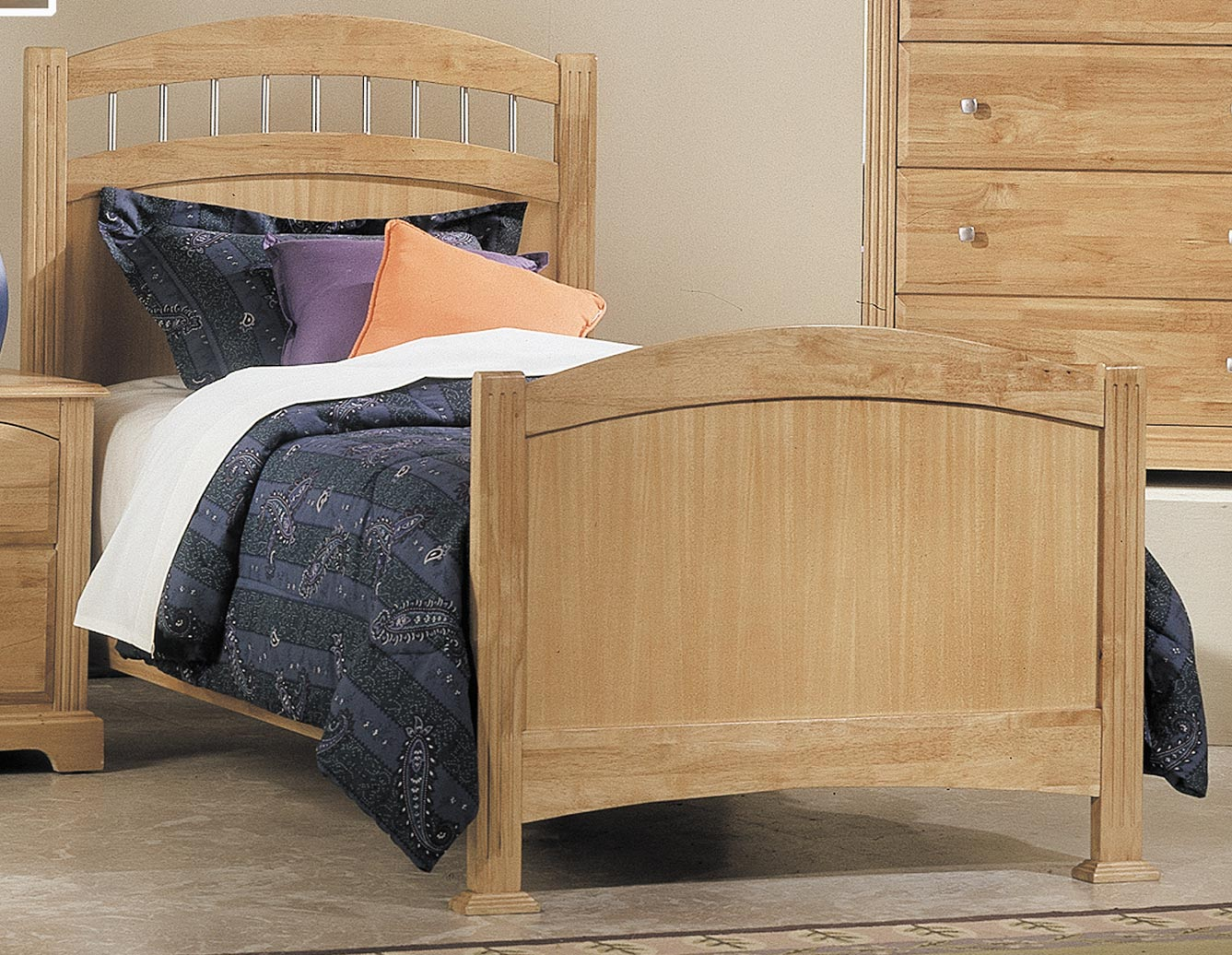 Homelegance Truckee Bed with Wood Rails - Maple