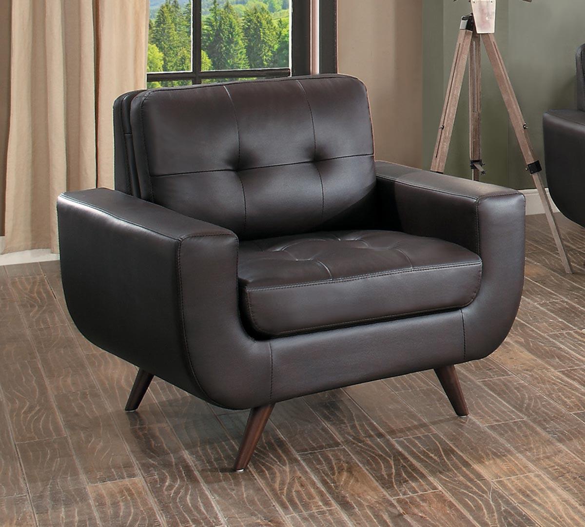 Homelegance Deryn Chair - Dark Brown