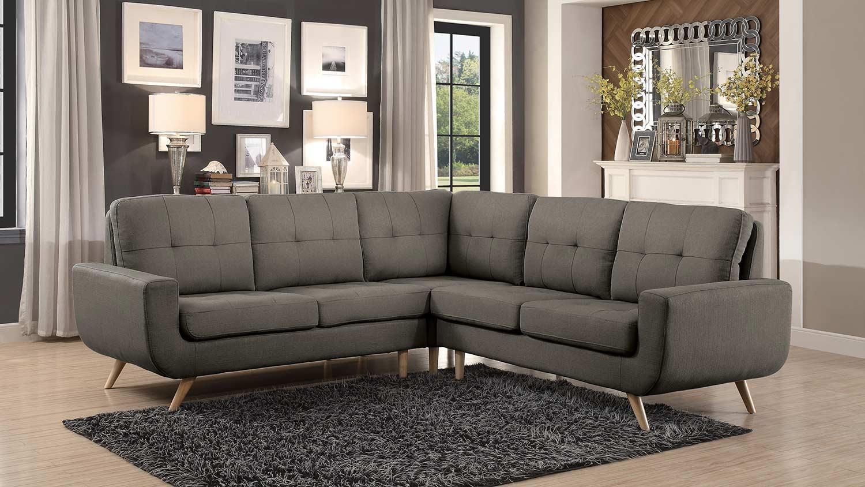 Homelegance Deryn Sectional Sofa - Grey