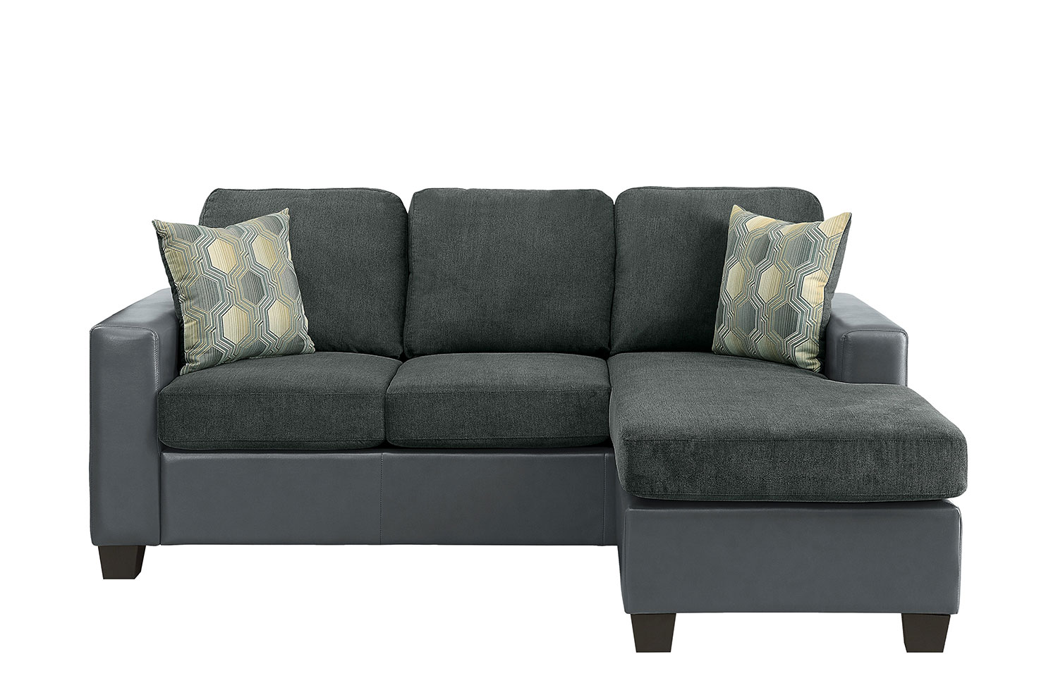 Homelegance Slater Reversible Sofa Chaise - Gray