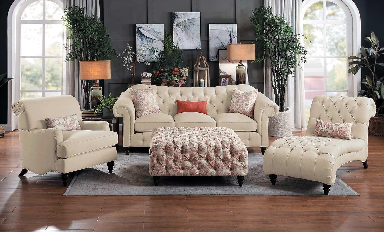Homelegance Selles Sofa Set - Beige