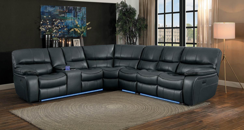 Homelegance Pecos Power Sectional Sofa Set - Grey