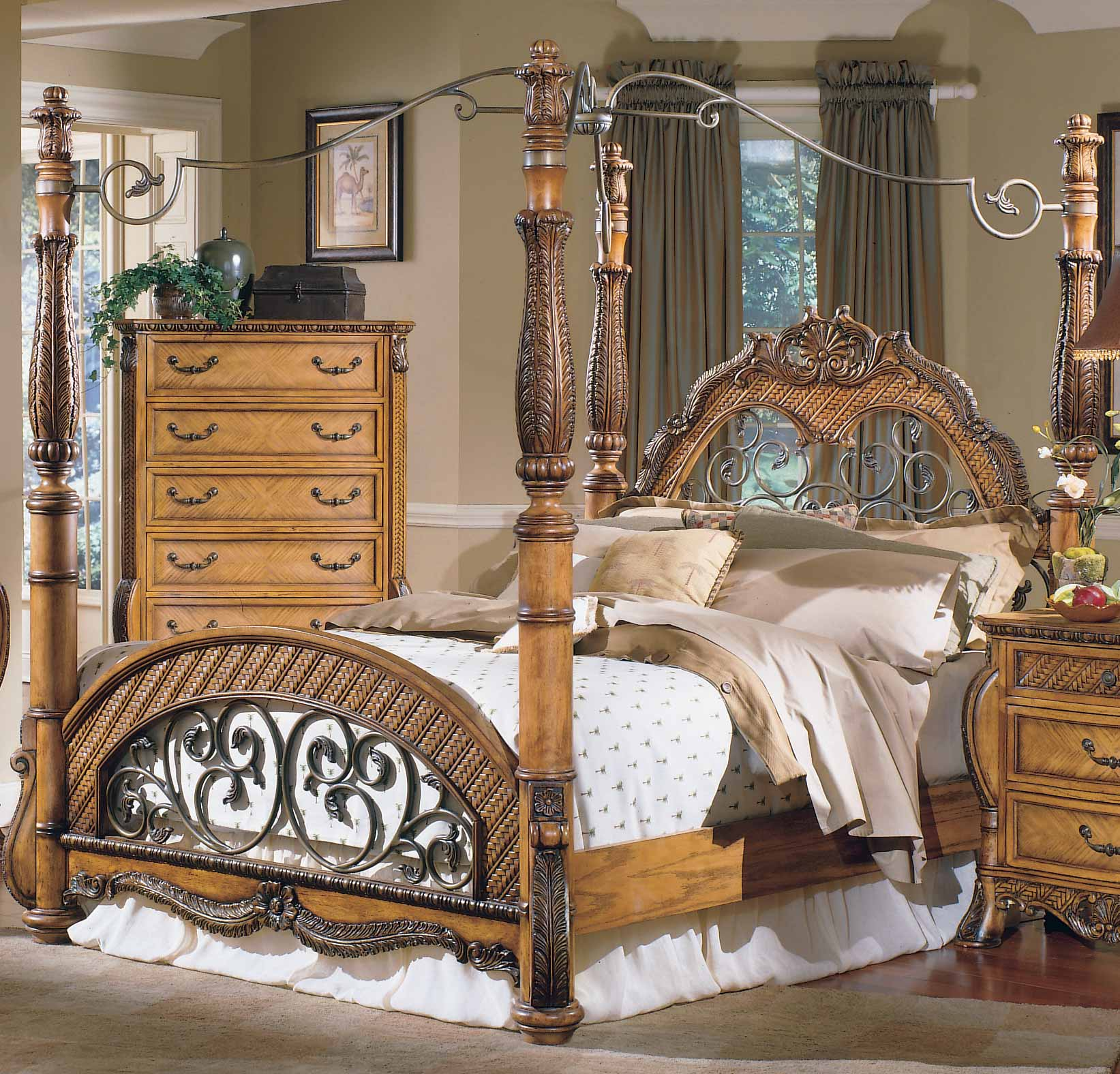 Homelegance South Beach Canopy Bed & Homelegance South Beach Canopy Bed 853-1 ...