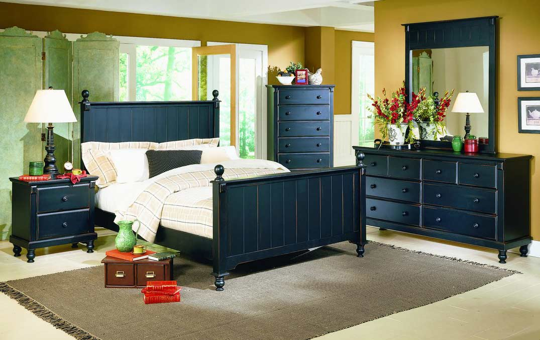 Homelegance Pottery Bedroom Collection Black