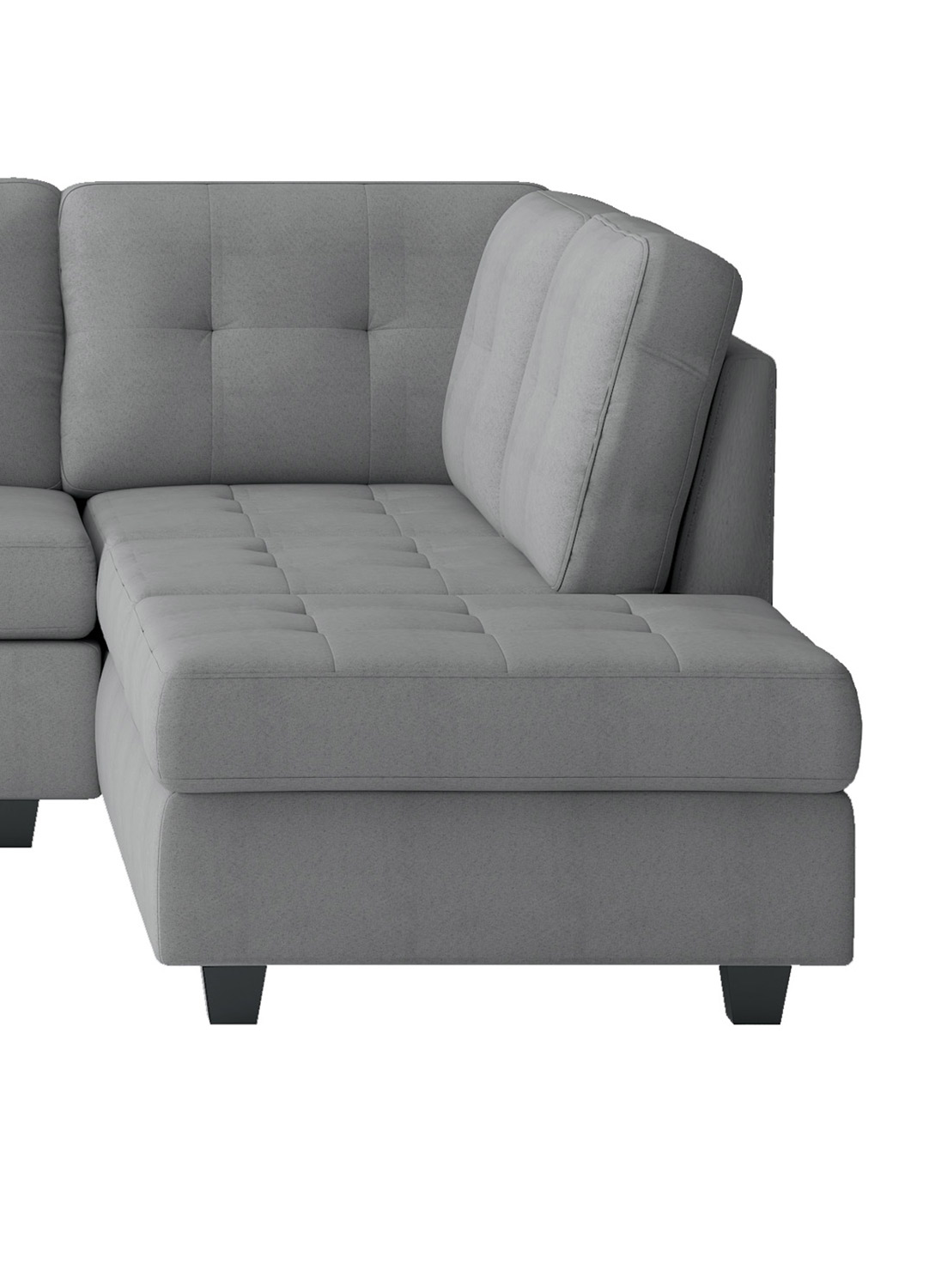Homelegance Maston Reversible Chaise, Left/Right Unit - Light gray