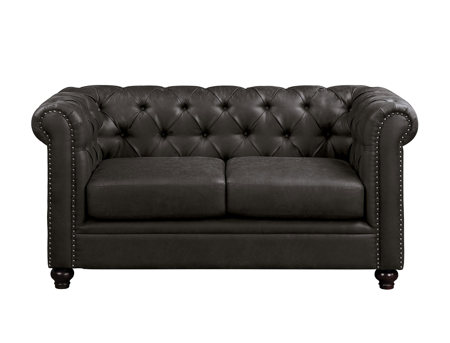 Homelegance Wallstone Love Seat - Brown