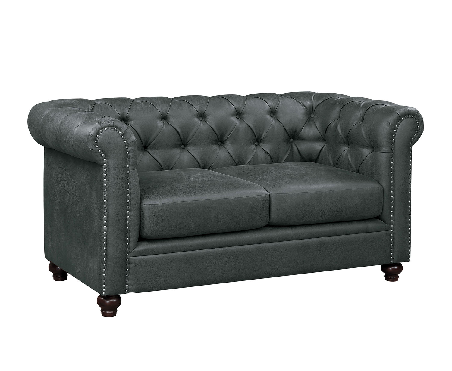 Homelegance Wallstone Love Seat - Gray