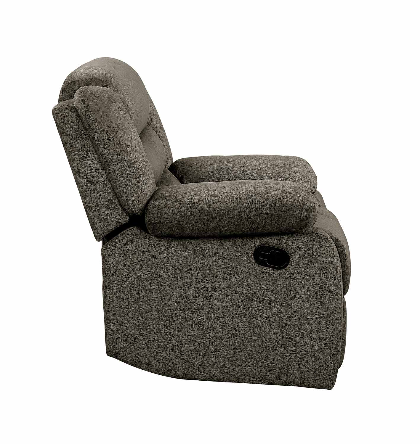 Homelegance Discus Reclining Chair - Brown