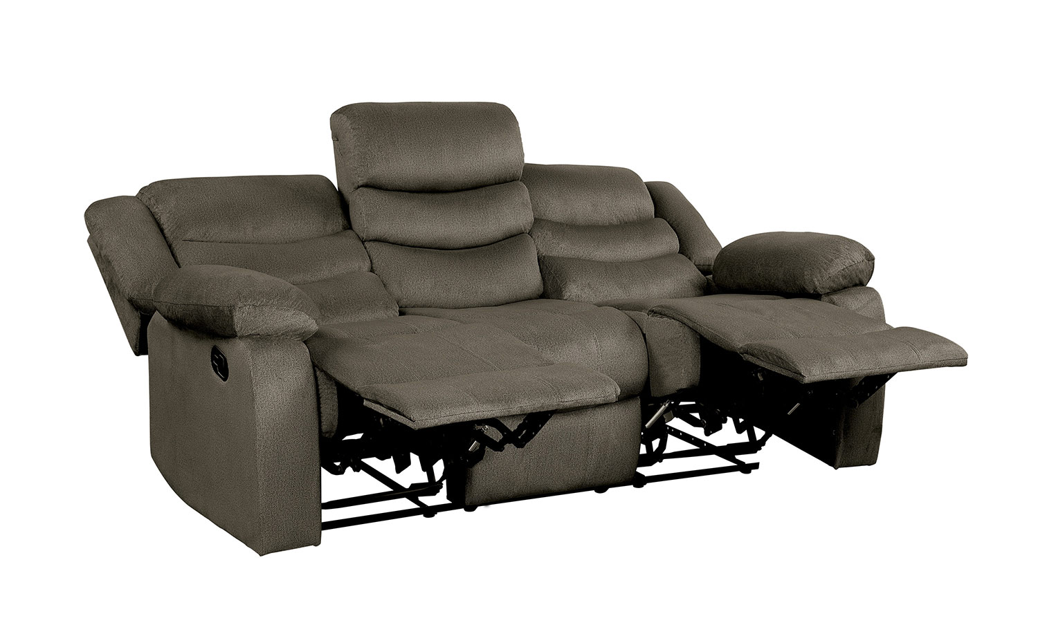 Homelegance Discus Double Reclining Sofa - Brown