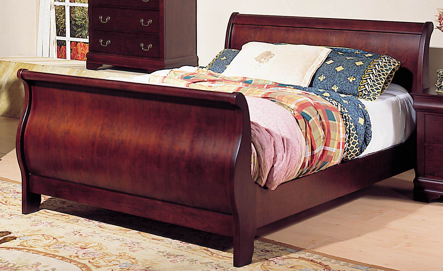 Homelegance dijon sleigh bed with rails 953n 1 for H plan bedroom furniture