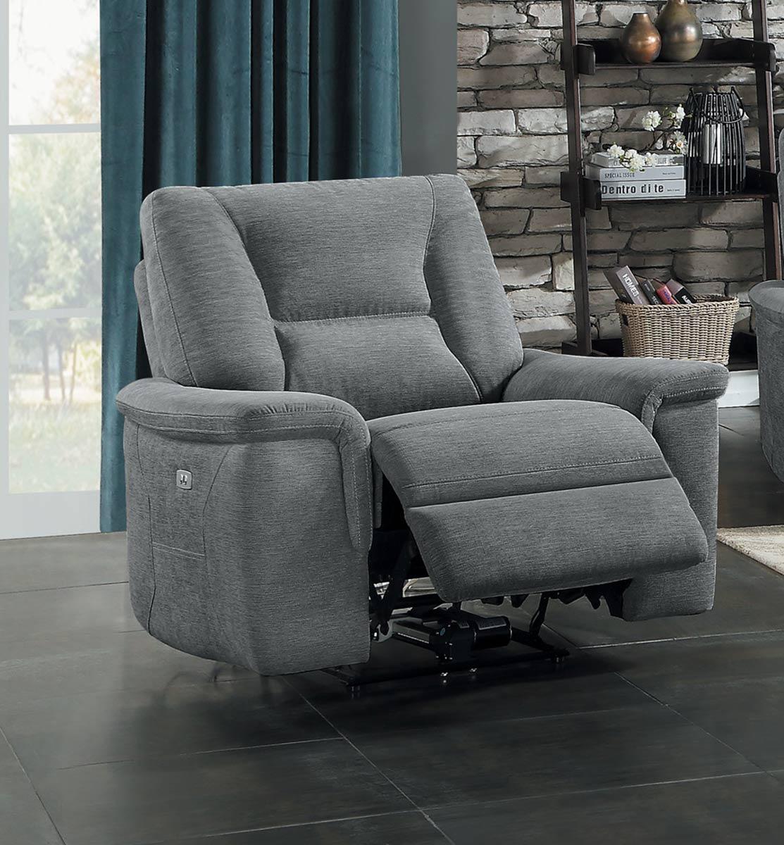 Homelegance Edelweiss Reclining Chair - Metal gray