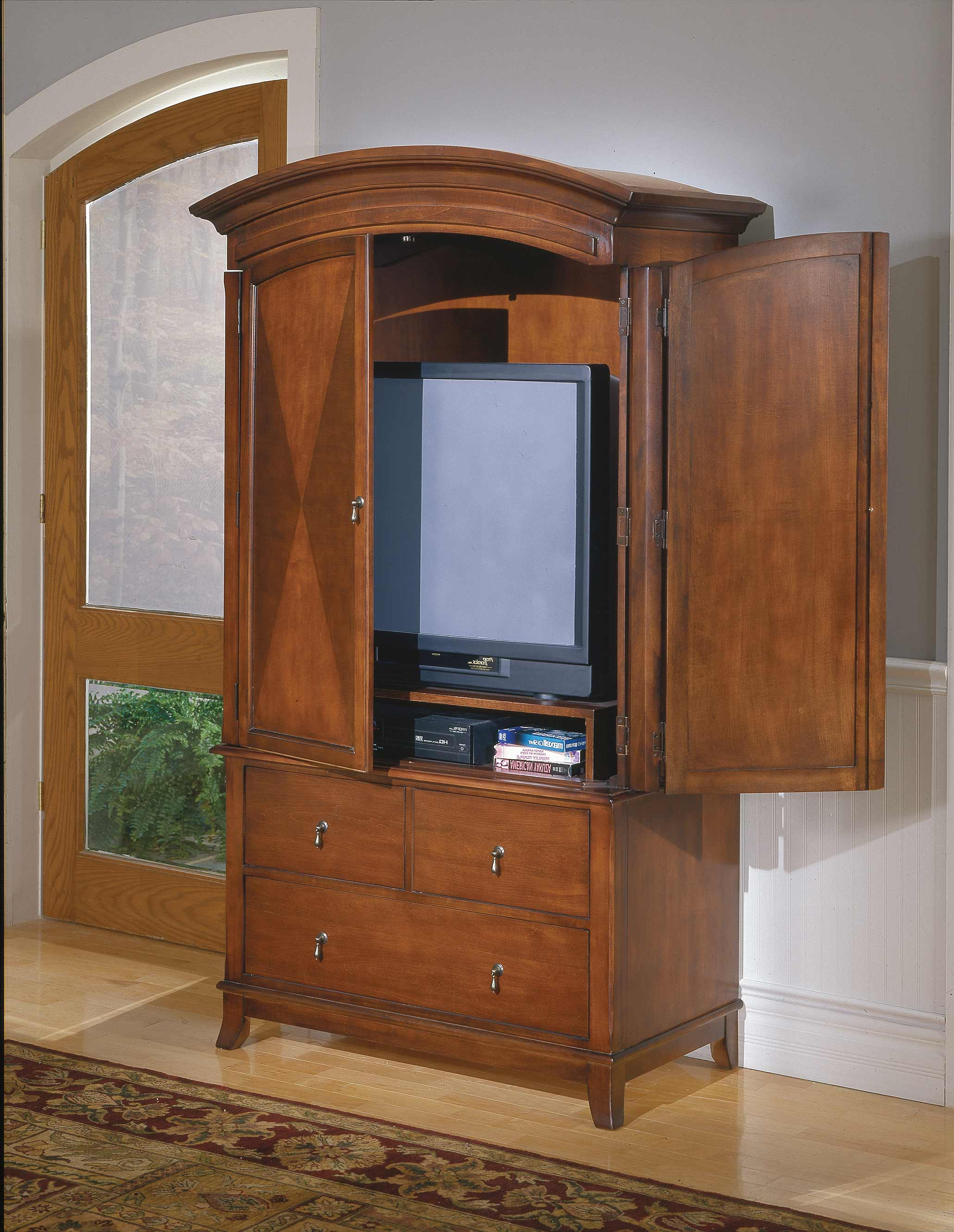 Homelegance avalon tv armoire 954 7 for Entertainment armoire