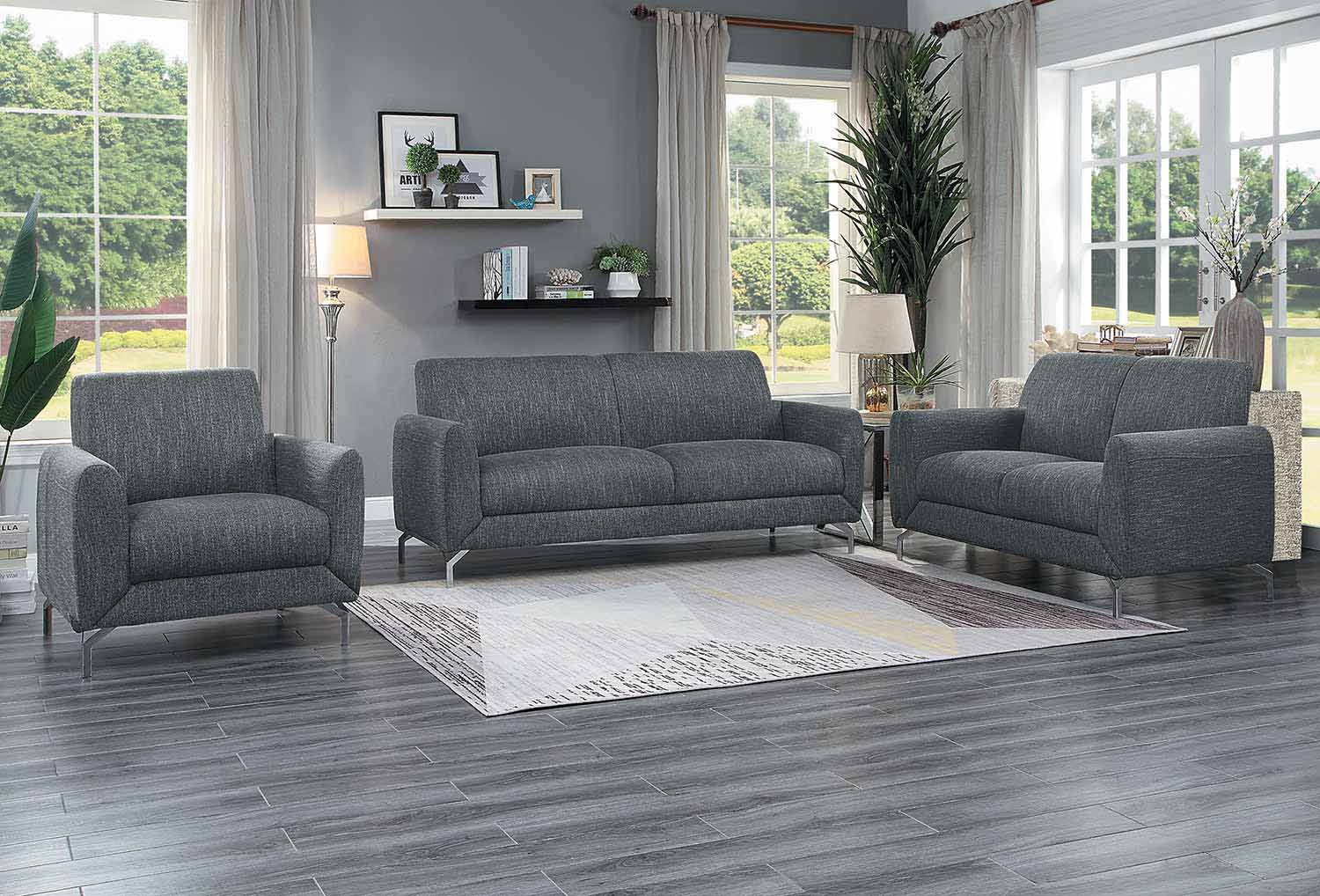 Homelegance Venture Sofa Set - Dark gray