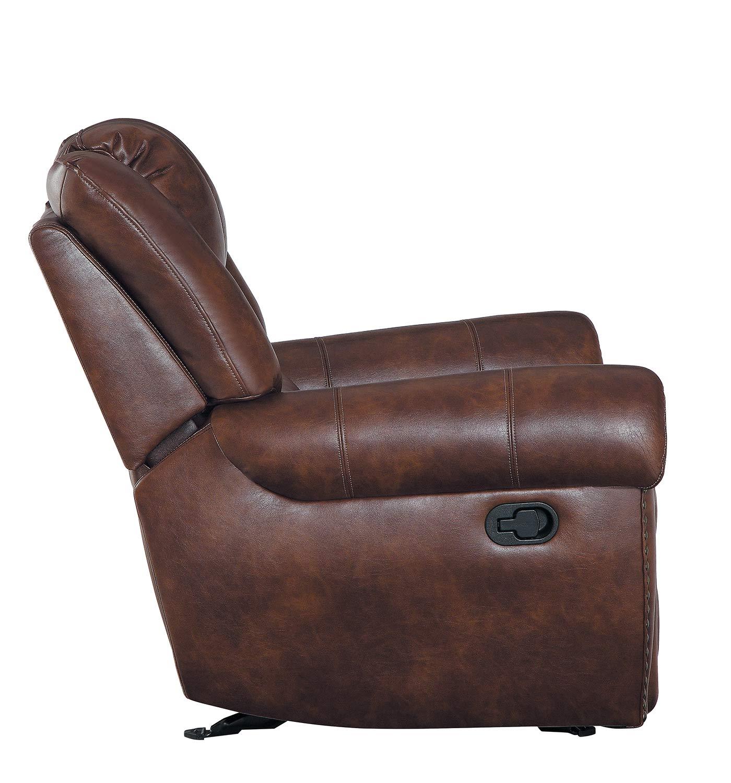 Homelegance Center Hill Glider Reclining Chair - Dark Brown