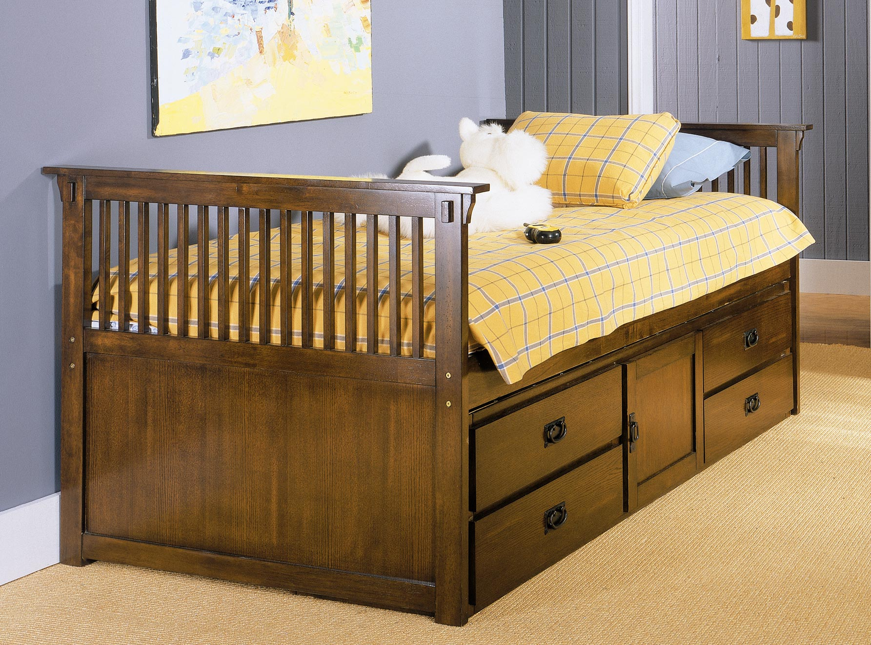 Homelegance Santee Mission Twin Captain Bed With Storage