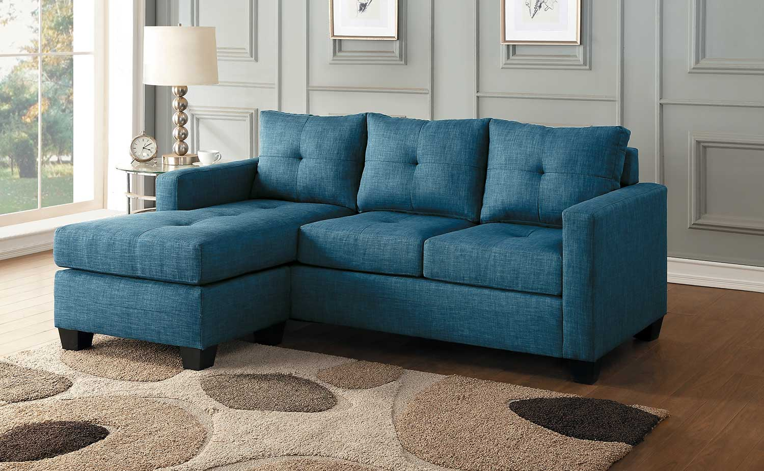 Homelegance Phelps Reversible Sofa Chaise - Blue