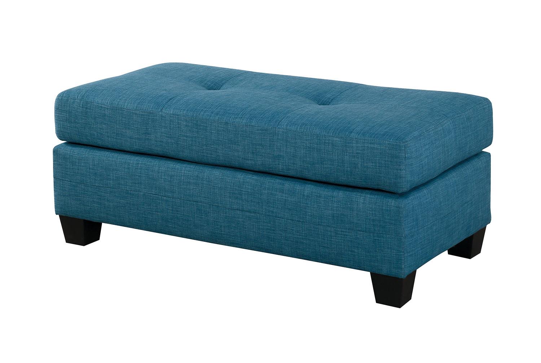Homelegance Phelps Ottoman - Blue