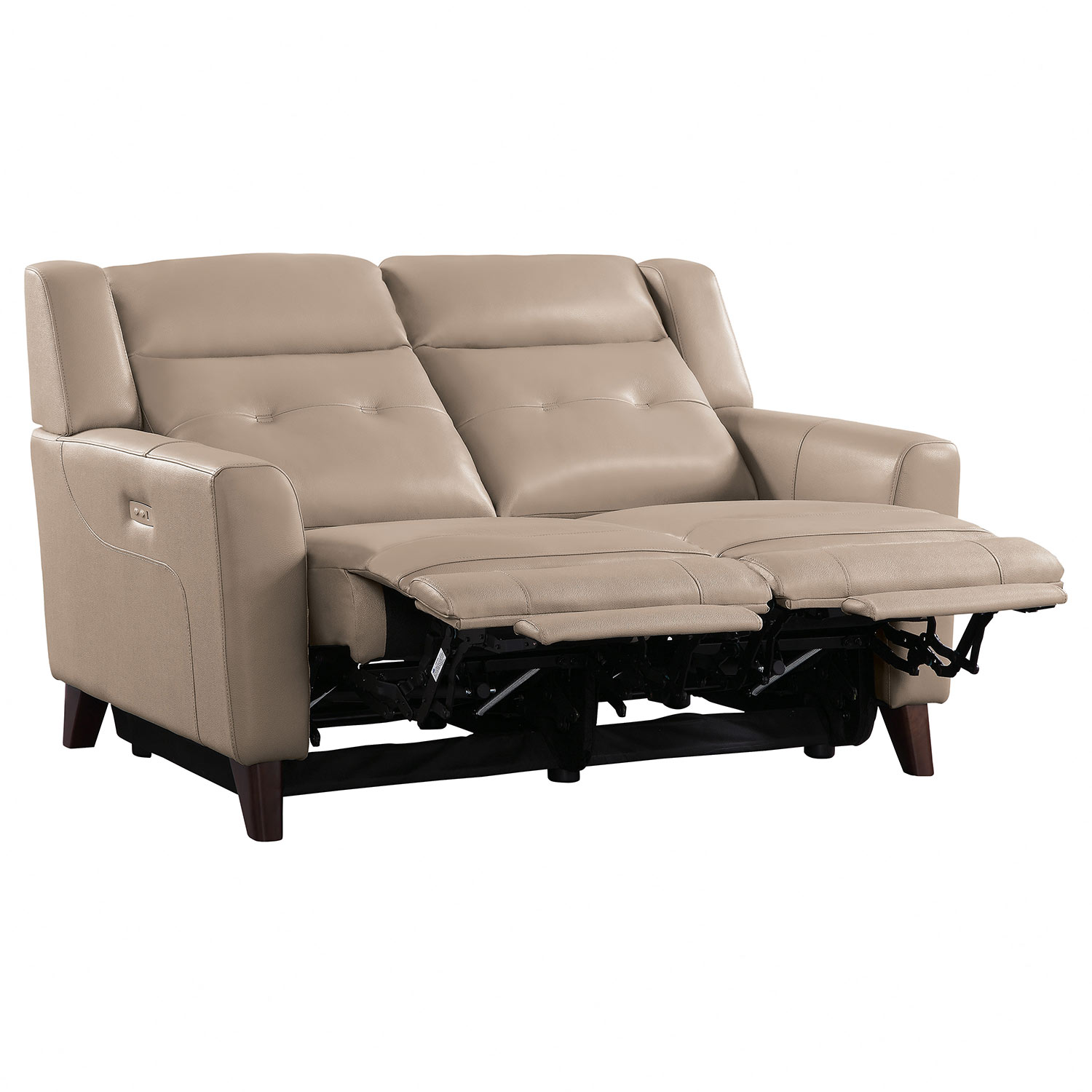 Homelegance Wystan Power Double Reclining Love Seat - Beige