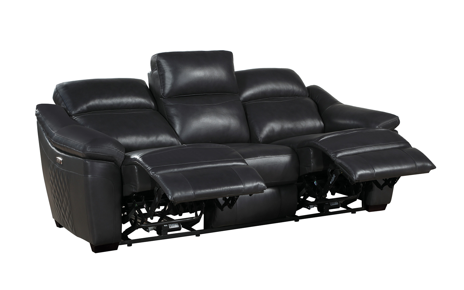 Homelegance Renzo Power Double Reclining Sofa - Dark Gray