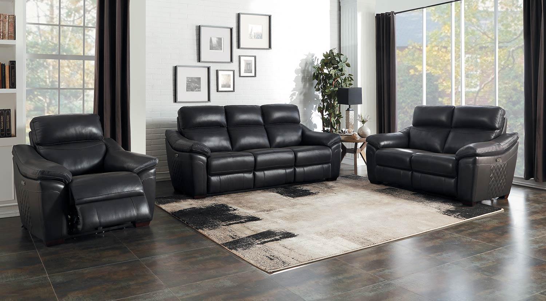 Homelegance Renzo Power Reclining Sofa Set - Dark Gray