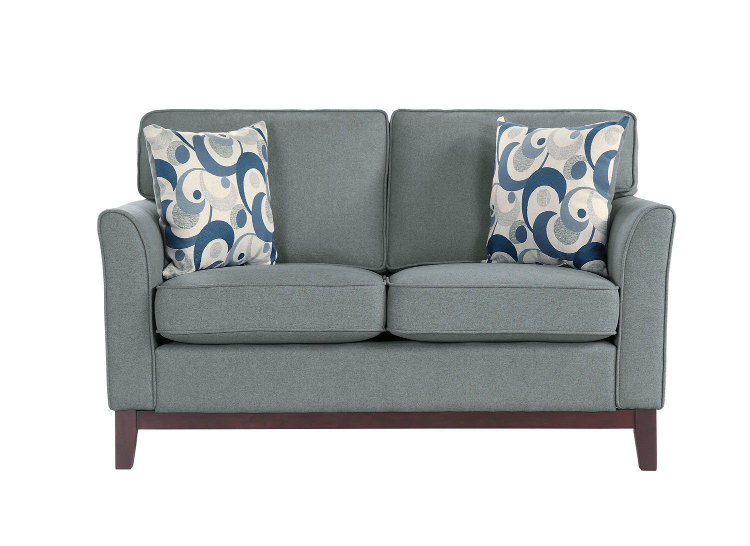 Homelegance Blue Lake Love Seat - Gray
