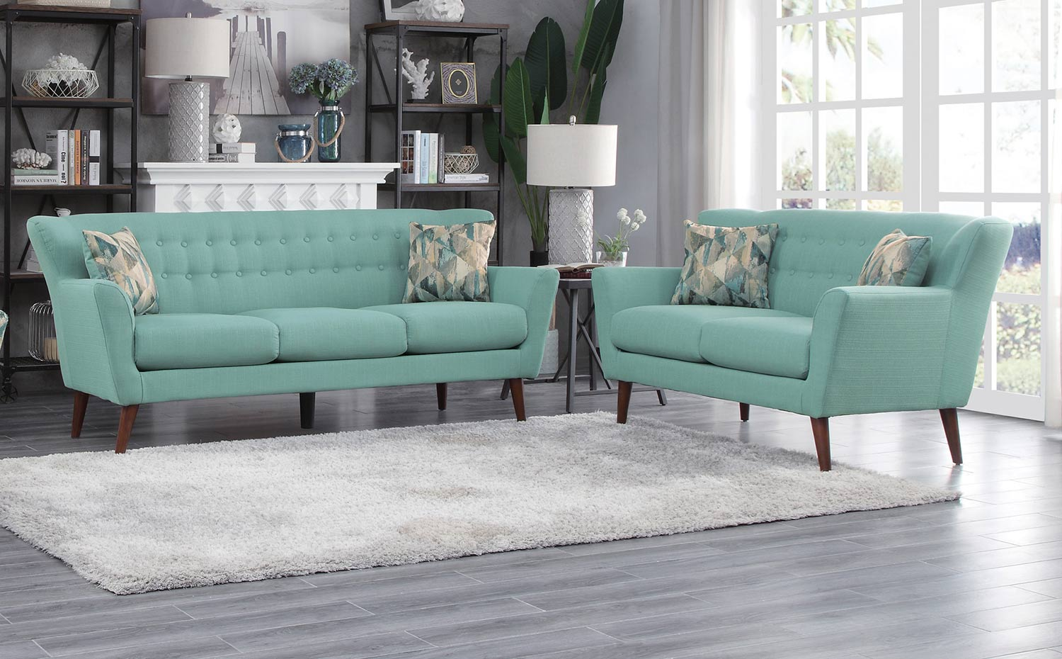 Homelegance Maja Sofa Set - Teal