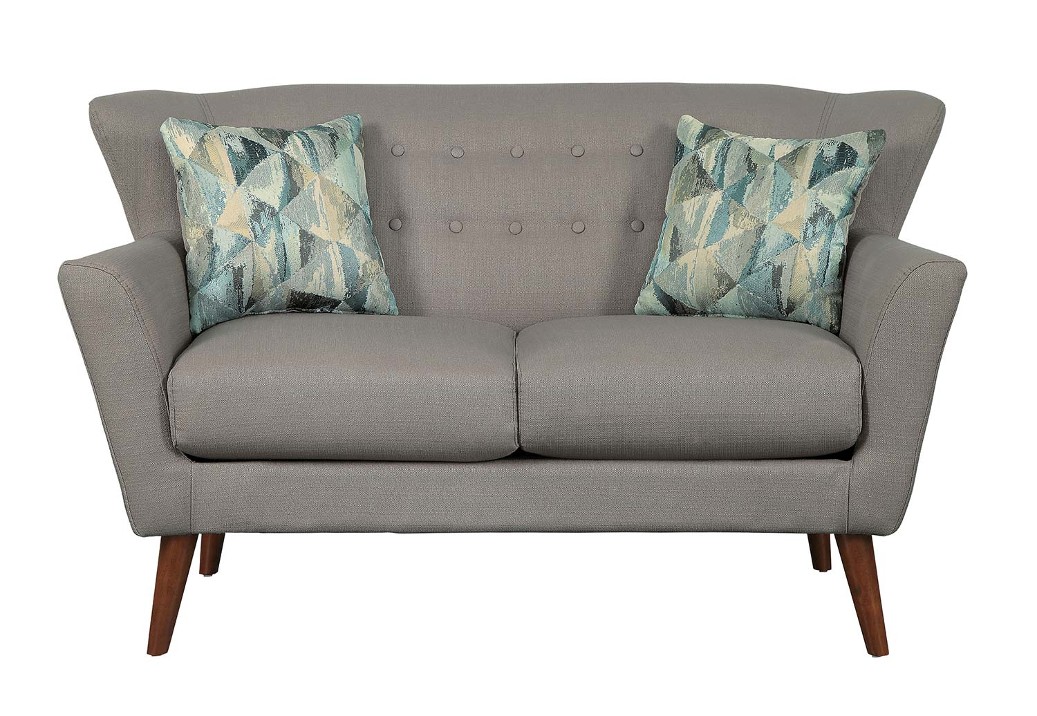 Homelegance Maja Love Seat - Gray