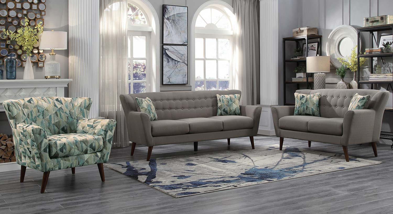 Homelegance Maja Sofa Set - Gray
