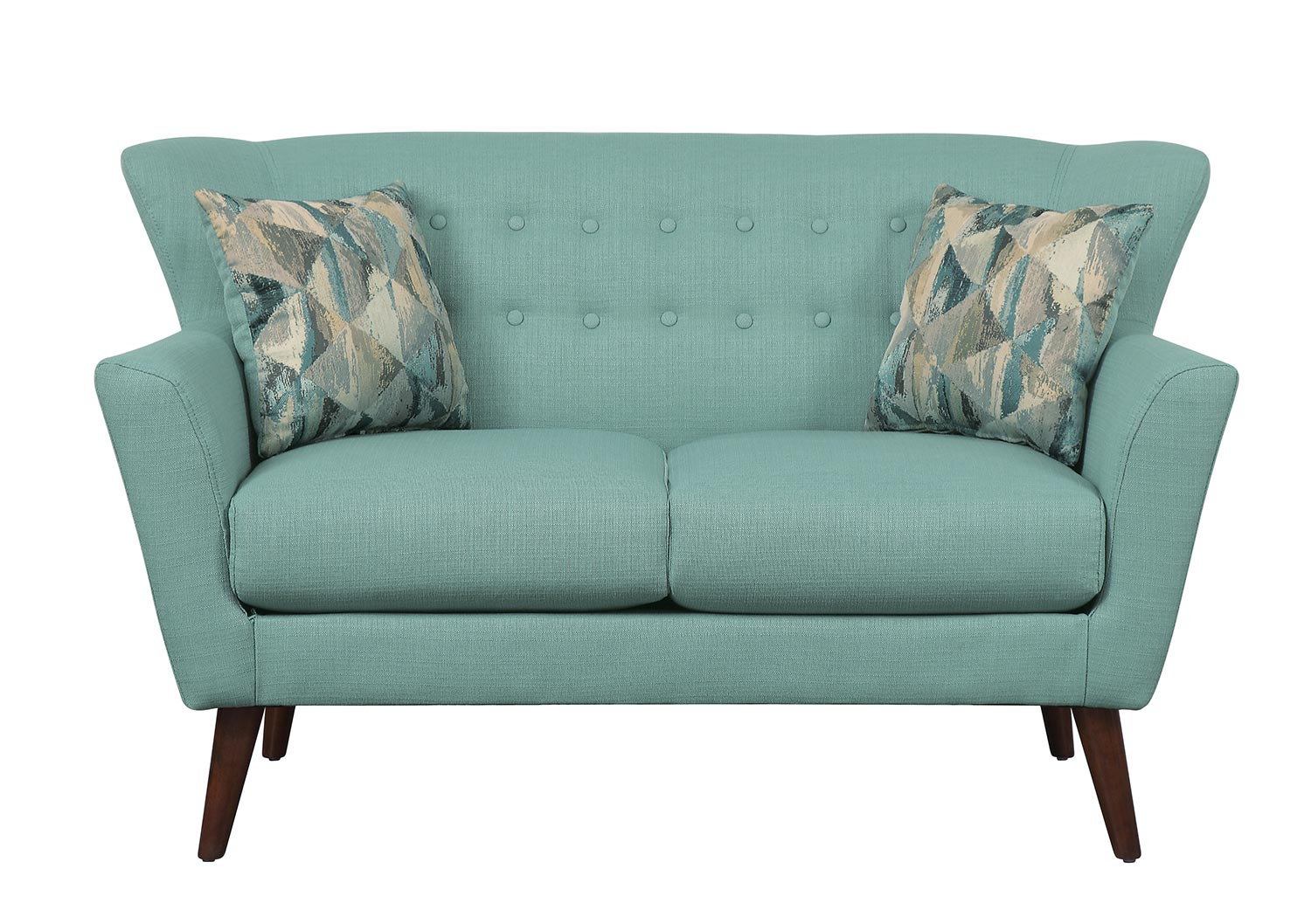 Homelegance Maja Love Seat - Teal