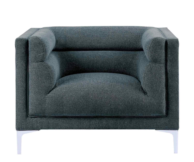 Homelegance Vernice Chair - Dark blue gray