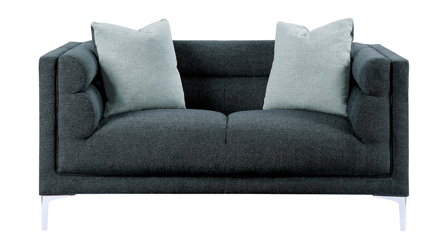 Homelegance Vernice Love Seat - Dark blue gray