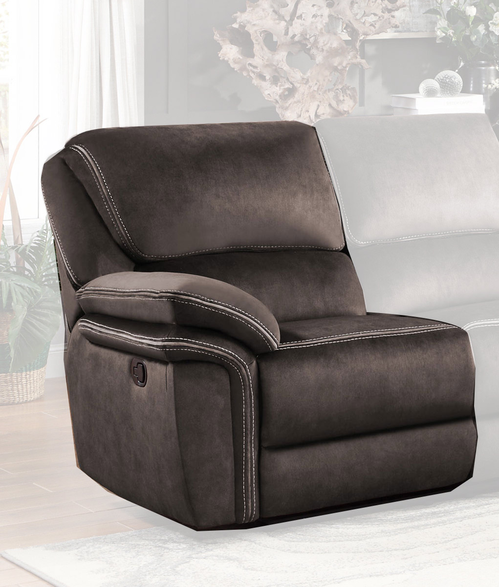 Homelegance Bronagh Left Side Reclining Love Seat - Chocolate