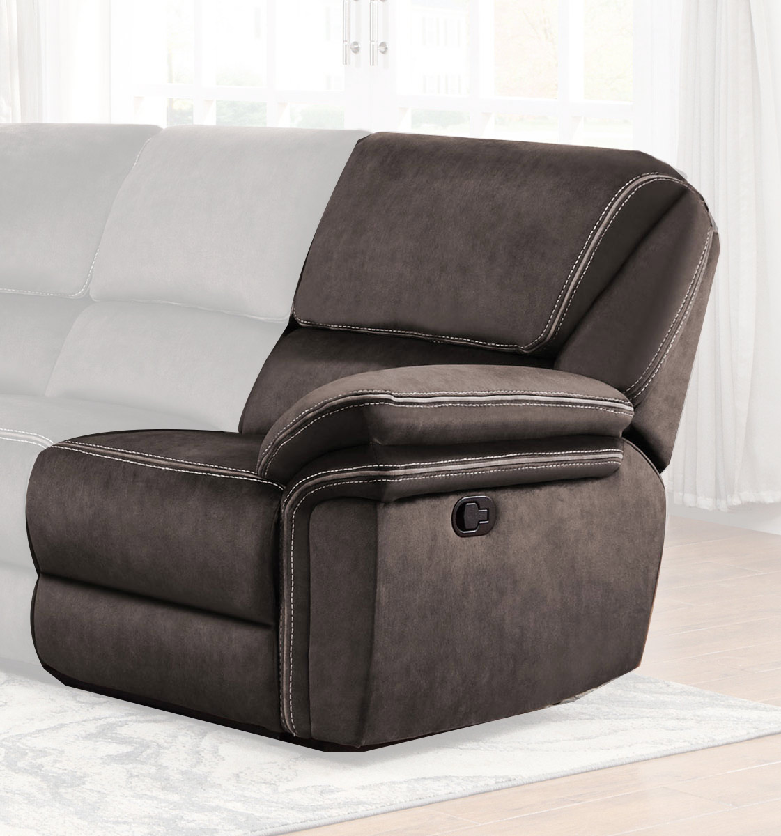 Homelegance Bronagh Right Side Reclining Love Seat - Chocolate