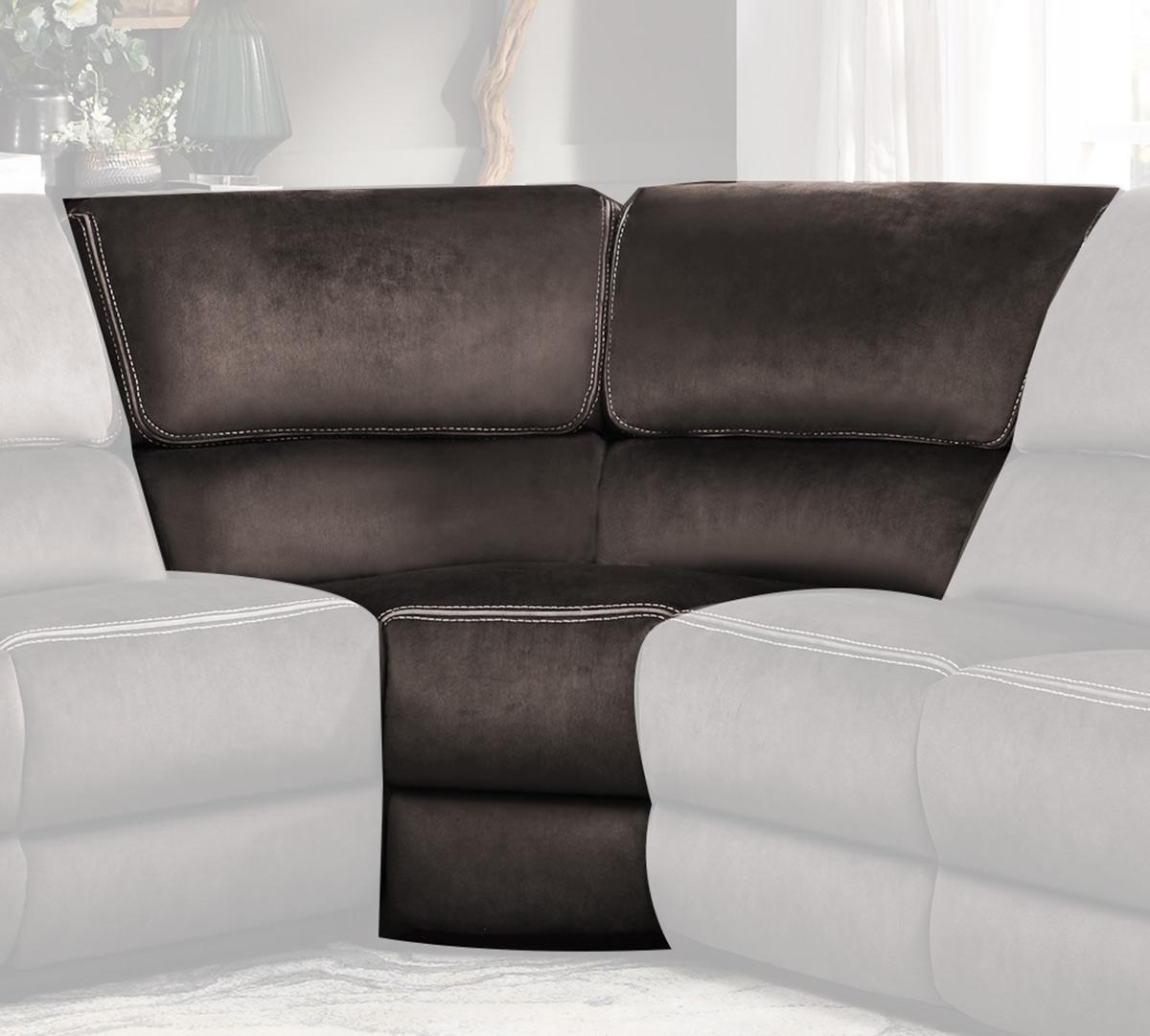 Homelegance Bronagh Corner Seat - Chocolate