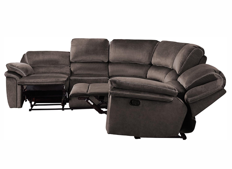 Homelegance Bronagh Reclining Sectional Sofa Set - Chocolate