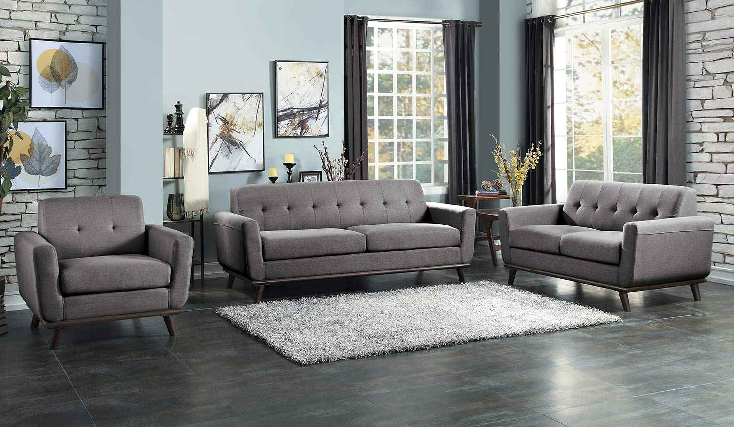 Homelegance Rittman Sofa Set - Gray
