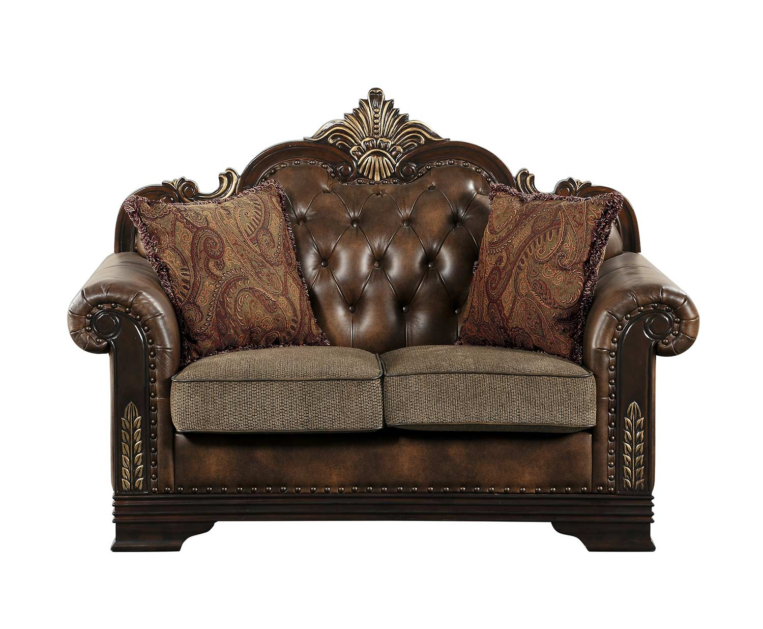 Homelegance Croydon Love Seat - Brown