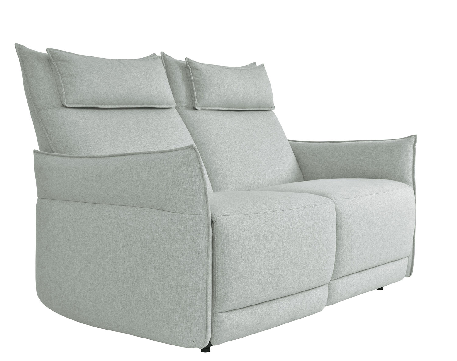 Homelegance Linette Power Double Reclining Love Seat With Power Headrests Ocean